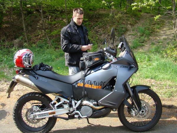 Andreas mit seiner KTM